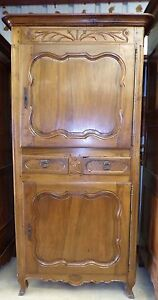 Antique French Homme Debout Circa 1890 Antique Walnut Armoire Wardrobe