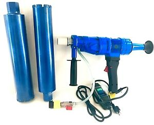 2 3 Wet Core Bits With 2 Speed Hand Held Core Drill Overload Protection