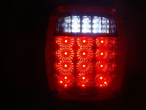 Jeep Wrangler Led Tail Lights Tj Cj Yj Cj5 Red Lens