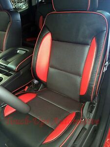 2016 2017 2018 Gmc Sierra Crewcab Sle Katzkin Leather Seat Covers Kit Red Custom