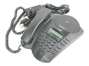 Polycom Soundpoint Pro Se 225 2 Line Conference Phone Caller Id Call Waiting Lcd