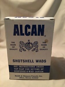 "Vintage Alcan Shotshell Wads 20 gauge 38"" FELTAN-BLUESTREAK RING-WAXED 500"