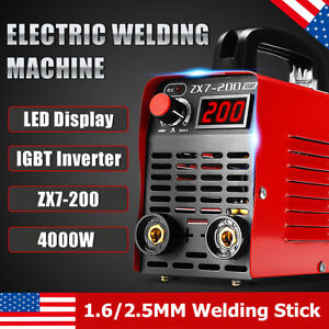 200a 4000w Mma Arc Digital Electric Welding Machine Igbt Inverter Stick Welder
