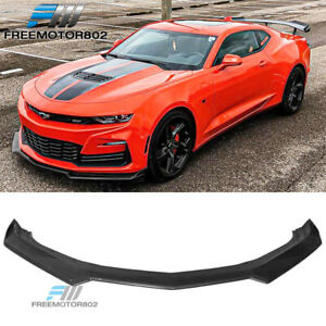 Fits 2019 2020 Chevy Camaro Oe Front Bumper Lip Painted Matte Black