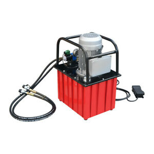 110v Electric Hydraulic Pump Double Acting Solenoid Valve Max 10000 Psi Pressure