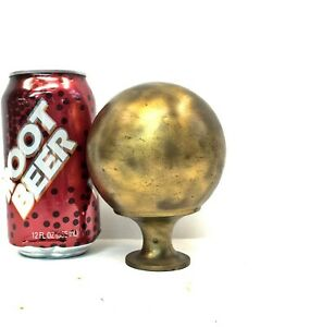 Antique 4 5 Brass Bed Cannon Ball Post Finial Parts Repair Reclaimed Salvage