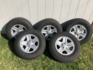 Full 5 Tire Set Goodyear Wranglers St P225 75 R16 Low No Mileage Tires Only
