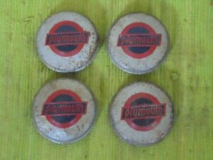 32 33 Plymouth Hub Caps Set Of 4 Wire Wheel Covers Hubcaps 1932 1933