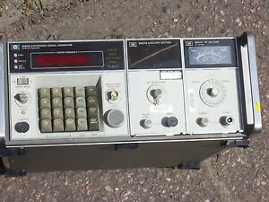 Hp 8660b Synthesized Signal Generator With 86631b Auxiliary Section