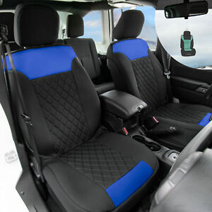 Neosupreme Front Bucket Seat Covers Auto Car Suv Blue Black W Free Gift