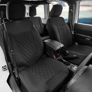 Front Seat Covers For Bucket Seats Auto Car Truck Suv 4 Pc Black