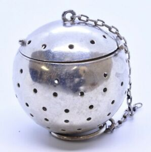 Vintage Simons Brothers 925 Sterling Silver 1 5 Tea Ball Infuser Strainer 603