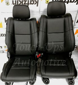 2011 2021 Jeep Grand Cherokee Laredo Black Leather Seat Covers Kit New Piping