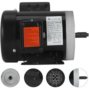 1 Hp 3600 Rpm Single Phase 240v 56c Frame Electric Air Compressor Motor 5 8