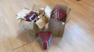 Vintage Glass Exit Light Signs Lot Of 3