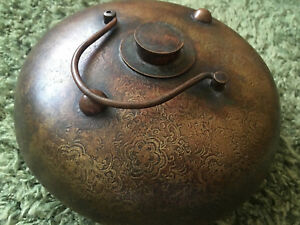 8 Chinese Antique Copper Portable Hand Warmer Xianfeng 1851 1861