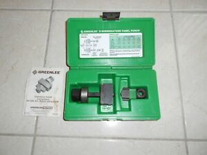 Greenlee 229 9 pin D subminiature Panel Punch Greenlee Knock Out Punch