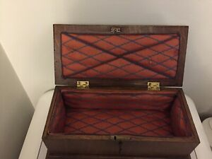 Vintage Wooden Oak Document Box With Lock And Key