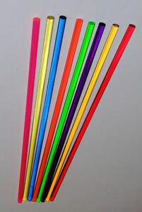 8 Different 1 4 Inch Diameter X 36 Long Clear Color Plexiglass Acrylic Rods