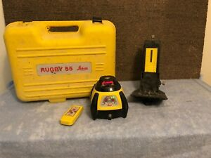 Leica Rugby 55 Rotating Laser Level With Remote And Stand