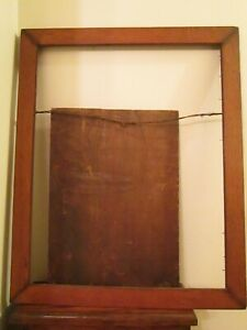 Antique Arts And Crafts Oak Picture Frame Beaded Edge Large 27 5 X 22 5