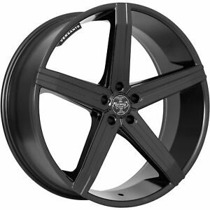 Versante Ve228 24x9 5 5x120 30mm Black Wheels Rims 228249547 30mb