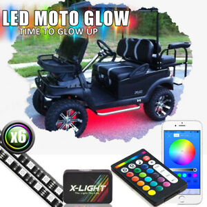 Strip Led Color Changing Honda Ezgo Golf Cart Neon Lights Kit W Wireless Remote