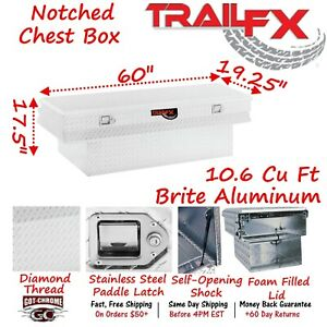 152601 Trailfx 59 Polished Aluminum Truck Bed Chest Tool Box Notched