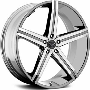 Versante Ve228 24x9 5 5x120 15mm Chrome Wheels Rims 228249547 15c