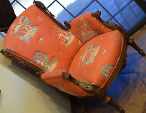 Chinese Vintage Embroidered Fabric Chair Archery Music Horse Design Patterns