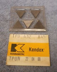 Kennametal Carbide Inserts Tpu 432 Grade K45 Pack Of 5