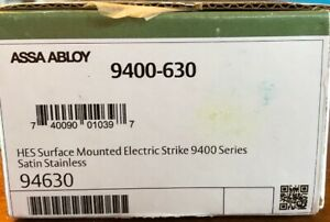 Hes 9400 12 24d 630 Electric Strike Stainless Assa Abloy Lock Sealed New