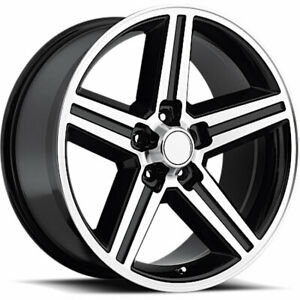 Oe Performance 148 Iroc 20x8 5x120 65 5x4 75 0mm Machined Black Wheels Rims
