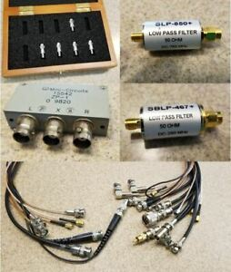 Rf Accessories Pack Sma Cables Attenuators Low Pass Filters Splitters Etc