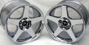 17 Chrome 03 Mustang Cobra Replica Wheels 17x9 17x10 5 5x114 3 Terminator 94 04