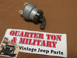 Jeep Willys Mb Gpw Ford Lever Style Ignition Switch Museum Quality Repo G503
