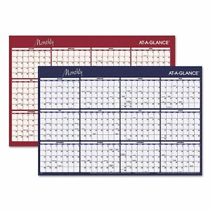 At a glance Reversible Horizontal Erasable Wall Planner 48 X 32 2019