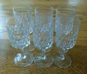 Vintage Crystal Stemware Wine Glasses Set Of 6
