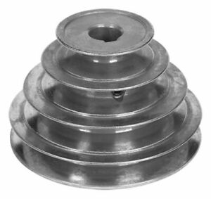 6 Diameter 4 Step Pulley 1 2 Fixed Bore Die Cast By Congress