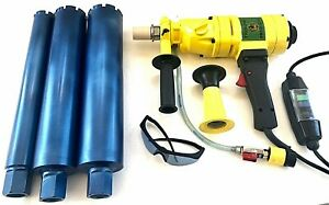 2 3 3 1 2 Wet Core Bits W Hand Held Core Drill Overload Protection