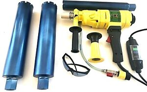 3 3 Wet Core Bits W Hand Held Core Drill Overload Protection