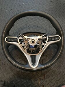 Honda Civic Front Driver Steering Wheel W Cruise Control Leather Black 2007 11
