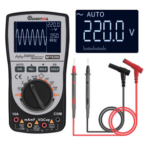 2in1 Upgraded Mustool Mt8206 Intelligent Digital Oscilloscope Multimeter A dc Us