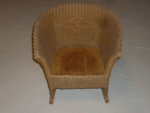 Vintage Wicker Rocking Chair Antique Childs Childrens Furniture Victorian Kid