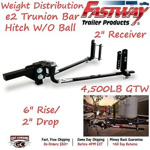 92 00 0450 Fastway Trailer E2 Trunnion Bar Weight Distribution Hitch 4500lb Gtw