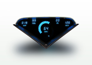 1955 1959 Chevy Truck Digital Dash Panel Blue Led Gauges Made In The Usa