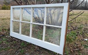 Architectural Salvage 8 Pane Long Slim Antique Window Sash Frame 44x20