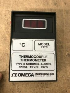 Omega Type K Chromel alumnel Thermocouple Thermometer Model 727c