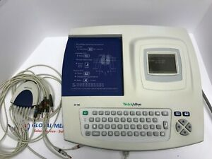 Welch Allyn Cp100 Ecg Ekg Electrocardiograph Machine With 10 Lead Cables