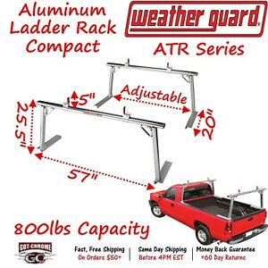 1205 Weather Guard Atr Compact Truck Bed Rail Mount Ladder Rack
